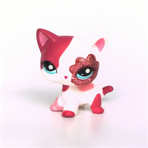littlest pet shop cat collection short hair cats youtube 2291 littlest pet shop pink sparkle short hair cat lps