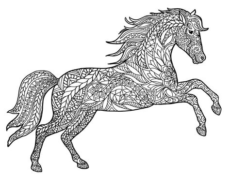 pony coloring pages for adults animal coloring pages for adults adult coloring pages