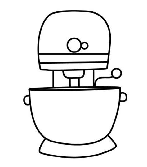kitchen mixer coloring page kitchen aid mixer cookies with a free printable template