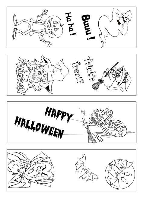 printable halloween bookmarks black white how to craft customize your halloween bookmark hellokids com