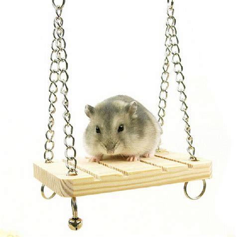 hamster swing fd2558 mice rat parrot hamster wooden bell swing