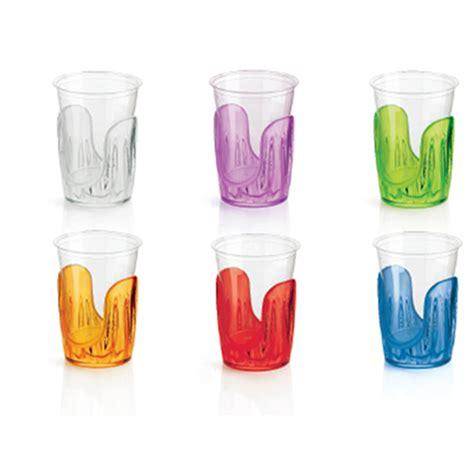 porta bicchieri di plastica reggibicchieri set 6 pezzi aqua 12 6x6 8xh19 3 cm