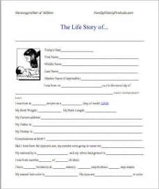Autobiography Writing Template by Sle Autobiography And Exle Of Autobiography