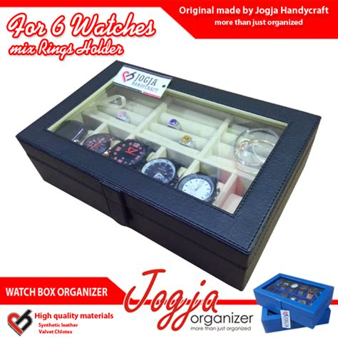 Jam Tangan Mixe black box mix ring organizer tempat jam