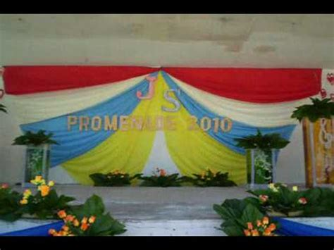 backdrop design for js prom culasi nhs stage decoration js prom 2010 youtube