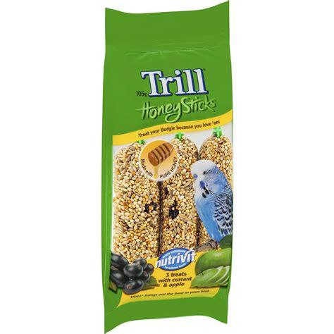 trill bird seed trill bird honey stick variety budgerigar woolworths