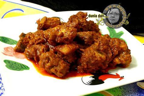 kari ayam kering ala rendang iftar ramadan break fasting