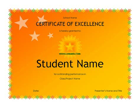 High School Student Award Microsoft Publisher Templates For Publisher 2013 Or Newer Software Microsoft Award Templates
