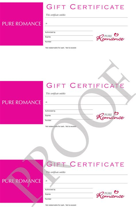 Pure Romance Gift Card - pure romance gift certificates digital download by labelsforyou
