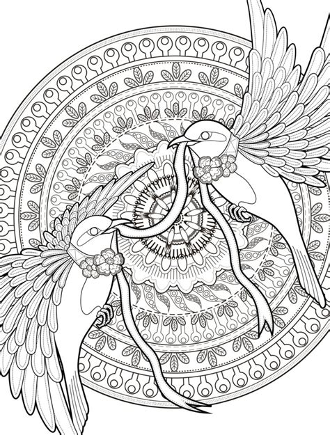 printable coloring pages for young adults coloring pages adult coloring pages with birds free