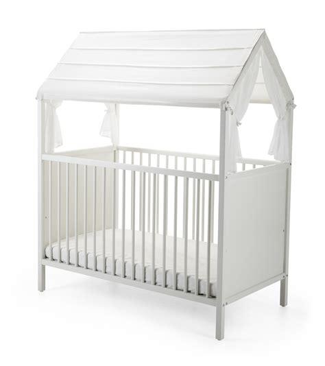 stokke bed stokke 174 home crib roof white