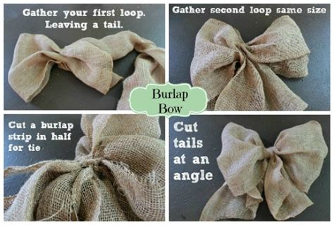 how to make a burlap bow tree topper 15 engrossing ways to make a burlap bow guide patterns