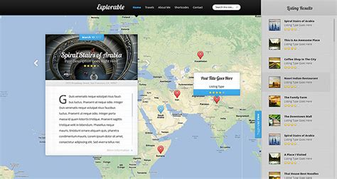 themes wordpress google maps explorable location wordpress theme