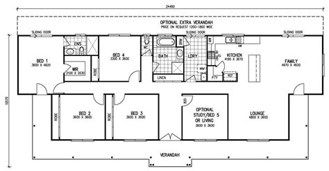 5 bedroom floor plan the karingal mk iii 4 bedroom home kit homes