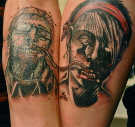 zombie couple tattoos 18 ill advised tattoos smosh