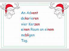 Akrostichon zur Adventszeit - Lernwerkstatt für Deutsch Elfchen