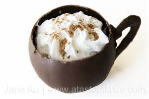 tirecipes hot chocolate in edible chocolate cups