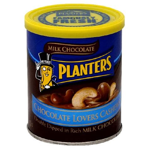 Planters Chocolate by Planters Chocolate Cashews 7 25 Ounce Can Pack Of