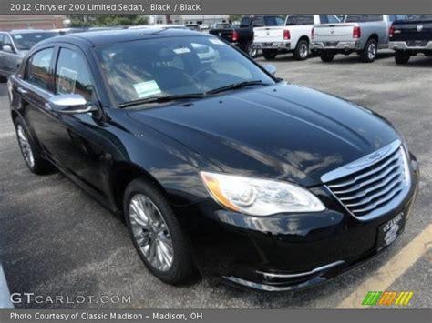 2012 Chrysler 200 Limited by Black 2012 Chrysler 200 Limited Sedan Black Interior