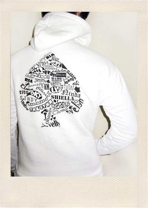 Jaket Hello White owl design and custom the result