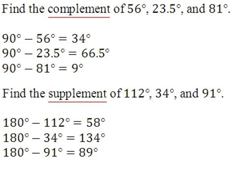 supplement of the complement math rescue trigonometry angles and arcs part 1