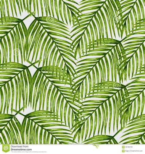 leaf pattern illustrator watercolor tropical palm leaves seamless pattern stock