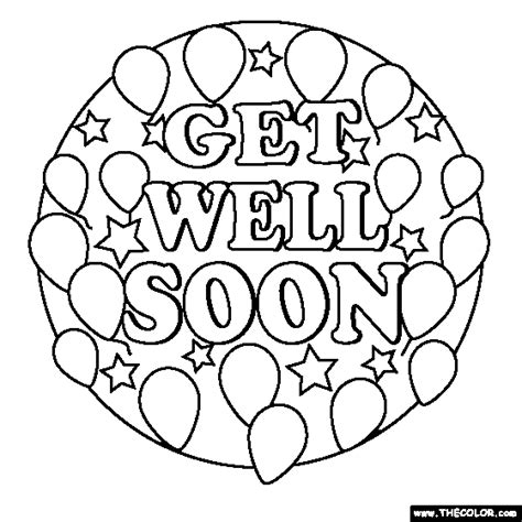 get well card coloring template free coloring pages get well soon search