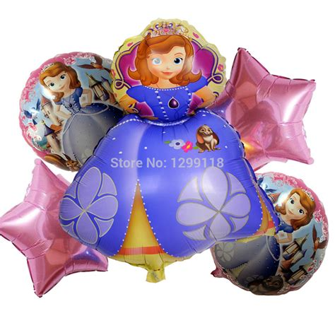 Balon Foil Princes Sofia By Esslshop2 5pcs lot princess sofia foil balloons birthday