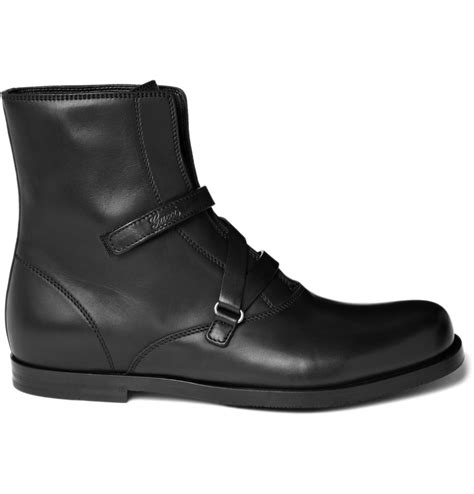 black leather chelsea boots gucci leather chelsea boots in black for lyst