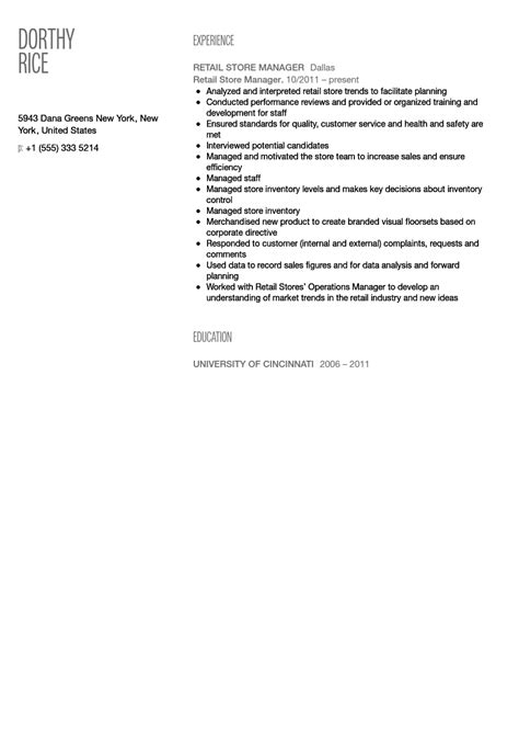 unforgettable assistant store manager resume examples to stand out