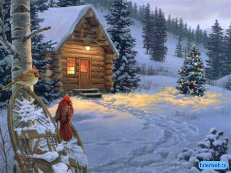 images of christmas scenery beautiful christmas scene wallpaper