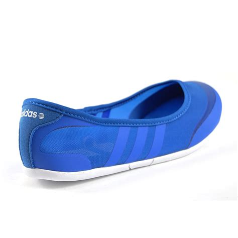 adidas shoes flat adidas sunlina womens satelite blue white ballet flat