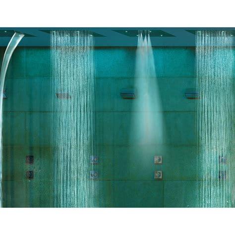 doccia con cromoterapia bossini soffione doccia da soffitto a due getti con