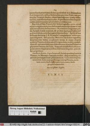 tavole rudolfine transito di mercurio sul sole 1631 commissione
