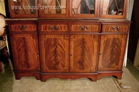 China Cabinet Antique by Four Door Antique Reproduction Mahogany China Cabinet Ebay