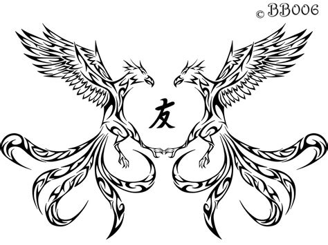 phoenix tribal tattoo tribal by blackbutterfly006 on deviantart