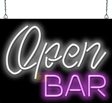 open bar neon sign fl   jantec neon