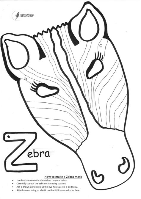 printable zebra mask pin zebra mask printable on pinterest