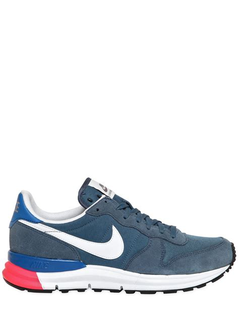 Nike Running Color Lis White nike lunar internationalist sneakers in blue lyst