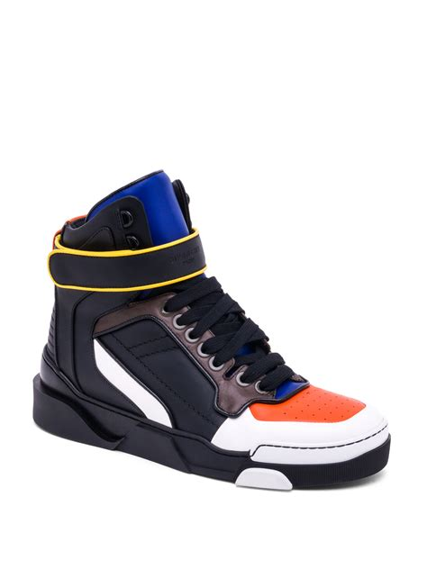 black high top sneakers mens givenchy tyson leather high top sneakers in black for