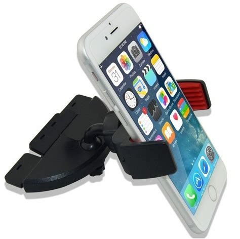cd slot car stereo smart phone holder mount for apple iphone 6 6s 7 plus ebay