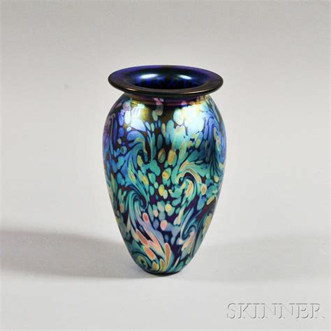 Eickholt Glass Vase by Eickholt Iridescent Glass Vase Sale Number 2881t