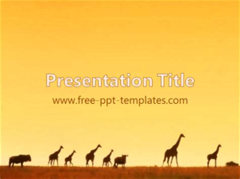 Africa Ppt Template Free Powerpoint Templates Africa Powerpoint Template