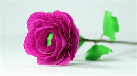 How To Make Crepe Paper - how to make handmade flowers from paper step by step