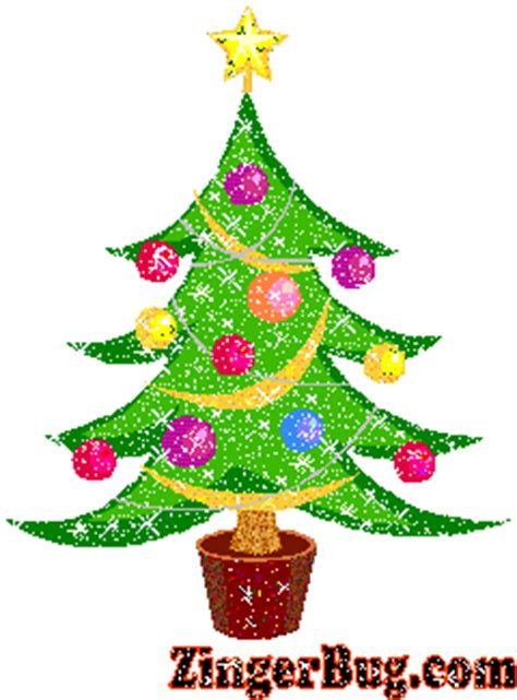 glitter christmas tree glitter graphic greeting comment