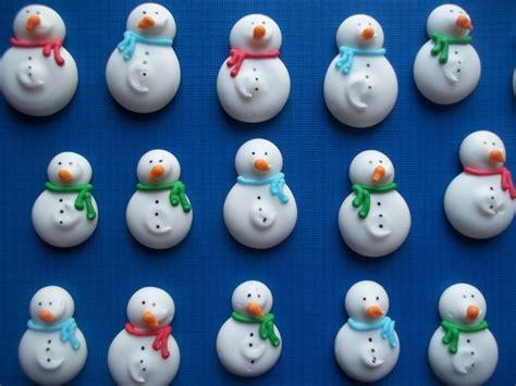 royal icing snowmen cupcake toppers handmade winter