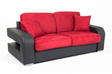 canape alban canape convertible couchage 160 cm alban wilma noir micro 34
