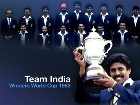 india winner cricket wallpapers india winning 1983 world cup