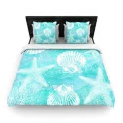 sylvia cook quot seaside quot blue teal woven duvet cover