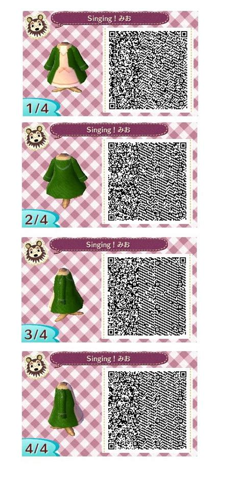 k on mio s green coat dress from the k on qr code